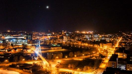 Tartu at night. Skycam.ee